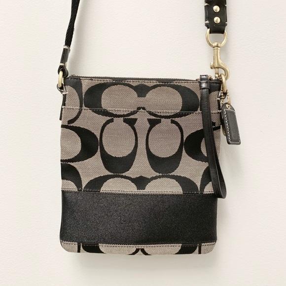 5ac9a2e787a8 Coach Handbags - !Flash Sale! COACH Jacquard Crossbody Bag